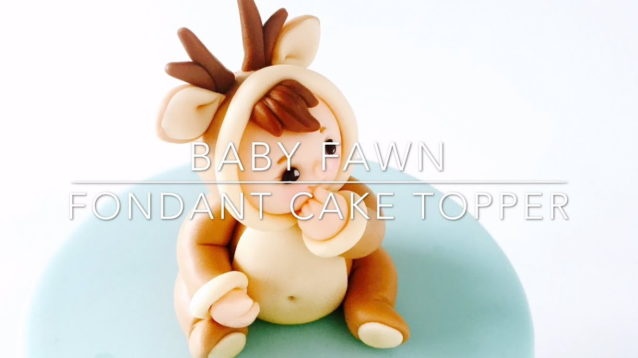 How To Make A Fawn Cake Fondant Topper