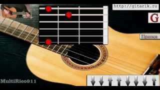 Дворовые -  Просто мечта одна была (разбор на гитаре)