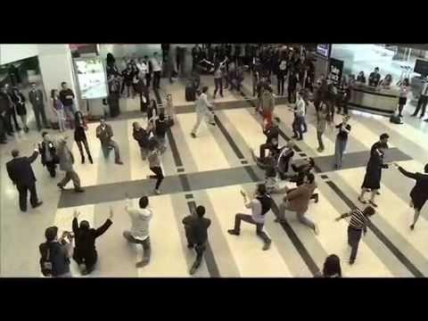 Beirut Duty Free Rocks Airport with Dabke Dance - Flash Mob
