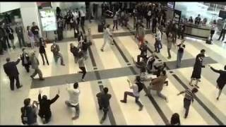 beirut duty free rocks airport with dabke dance flash mob دبكة في مطار بيروت