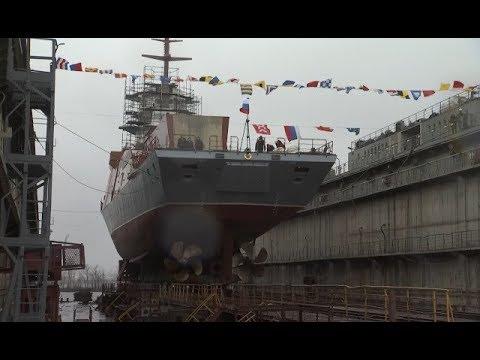Корвет «Ретивый» спустили на воду в Петербурге