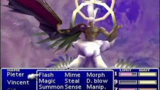 final fantasy 7 walktrough part 124 - final boss sephiroth 2nd form