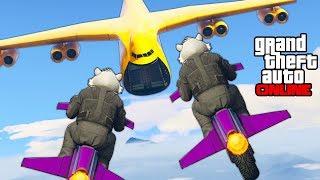 GTA 5 Online - Epic Stunts, Funny Moments & Rocket Bike Shenanigans (Gunrunning DLC) || PC