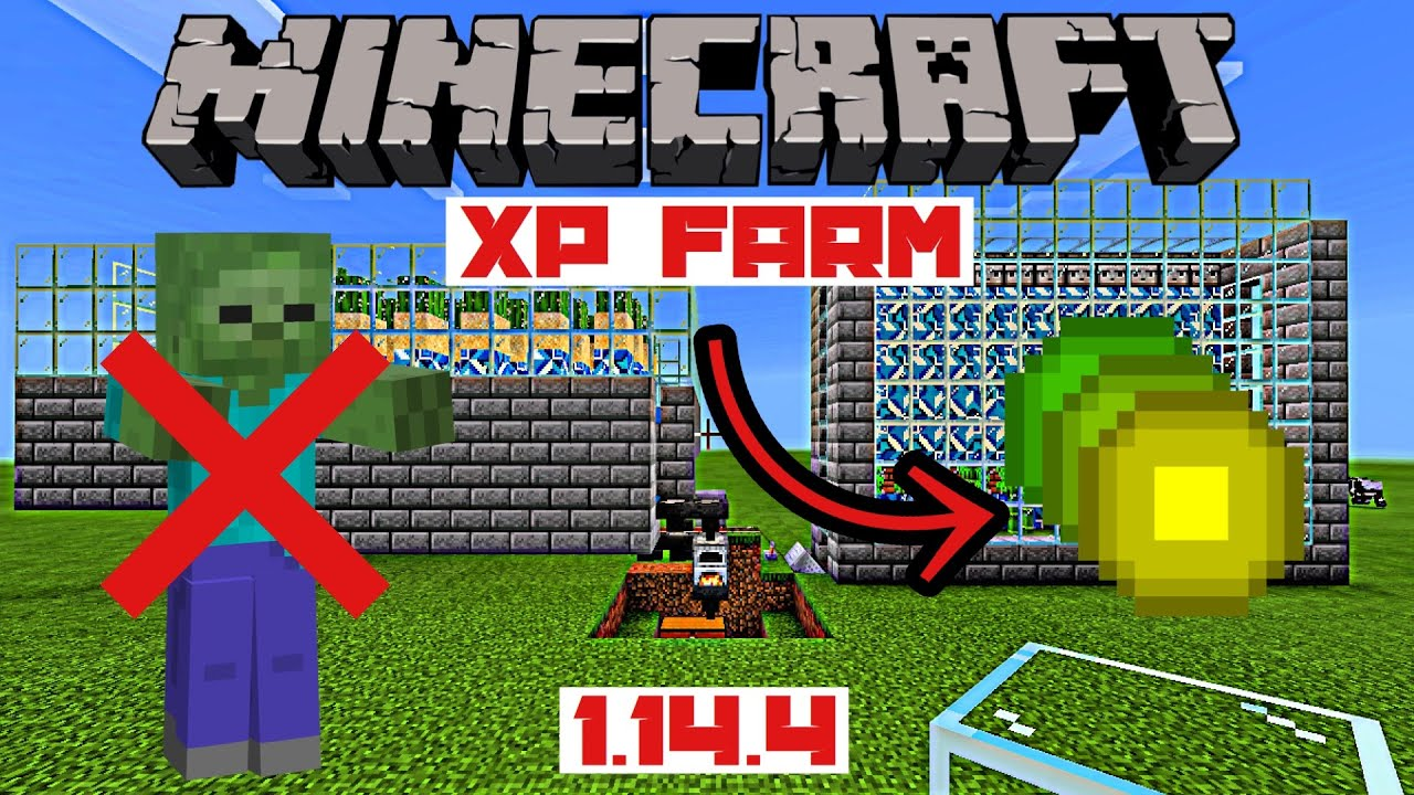 How To Build A Minecraft XP Farm No Mob Xp Bank For Minecraft 10.1010.10  Peaceful Mode Working XP Farm