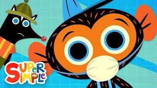 Mr. Skunk's Stinky Garbage Truck | Mr. Monkey, Monkey Mechanic | Cartoons For Kids