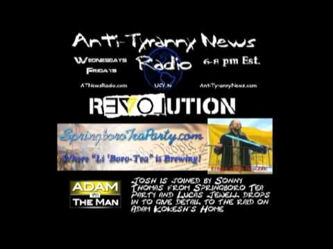 Sonny Thomas from Springboro Tea Paty on Anti-Tyranny News + Lucas Jewell drops in. pt.1 of 2