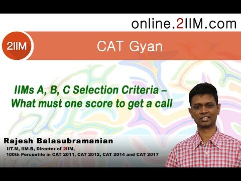 IIMs A, B, C Selection Criteria – What must one score to get