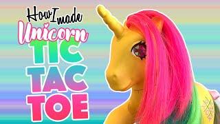 How I made.. Tic-Tac-Toe UNICORN - VINTAGE TOY CUSTOM