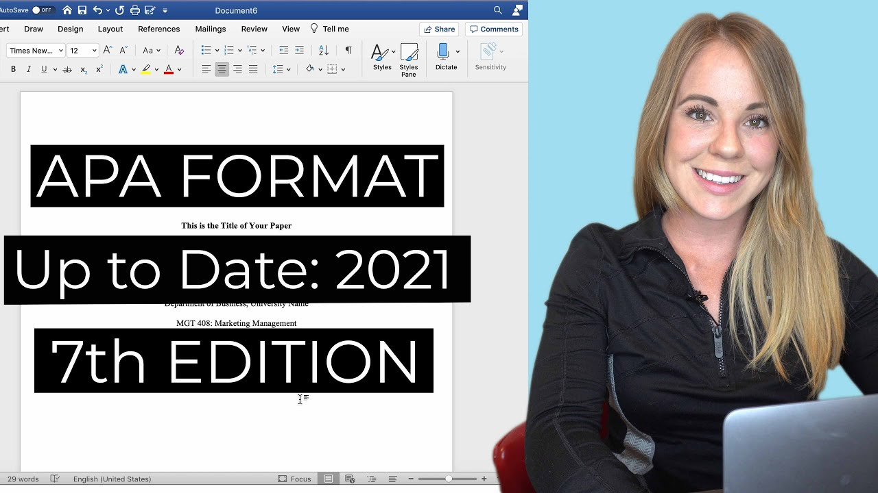 How to format your paper in APA style in 2020