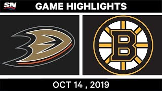 NHL Highlights | Ducks vs. Bruins - Oct. 14, 2019