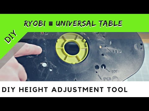 Ryobi Router R163 Height Adjustment Tool | DIY | Ryobi Universal Router Table