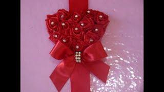 Diy como fazer coração de rosas para cabelo