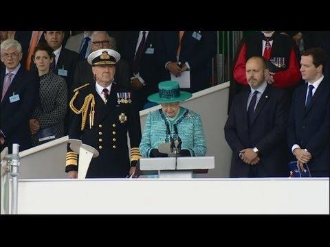 Queen names new aircraft carrier HMS Queen Elizabeth
