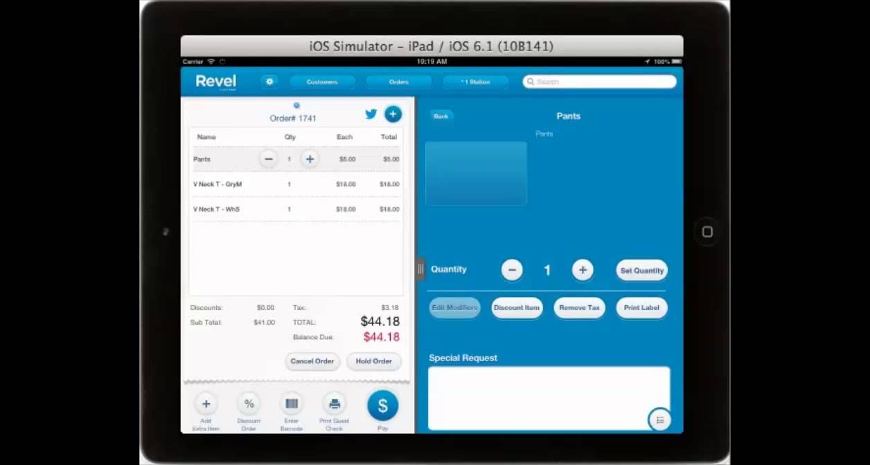 Revel Systems Ipad Pos For Retail Youtube