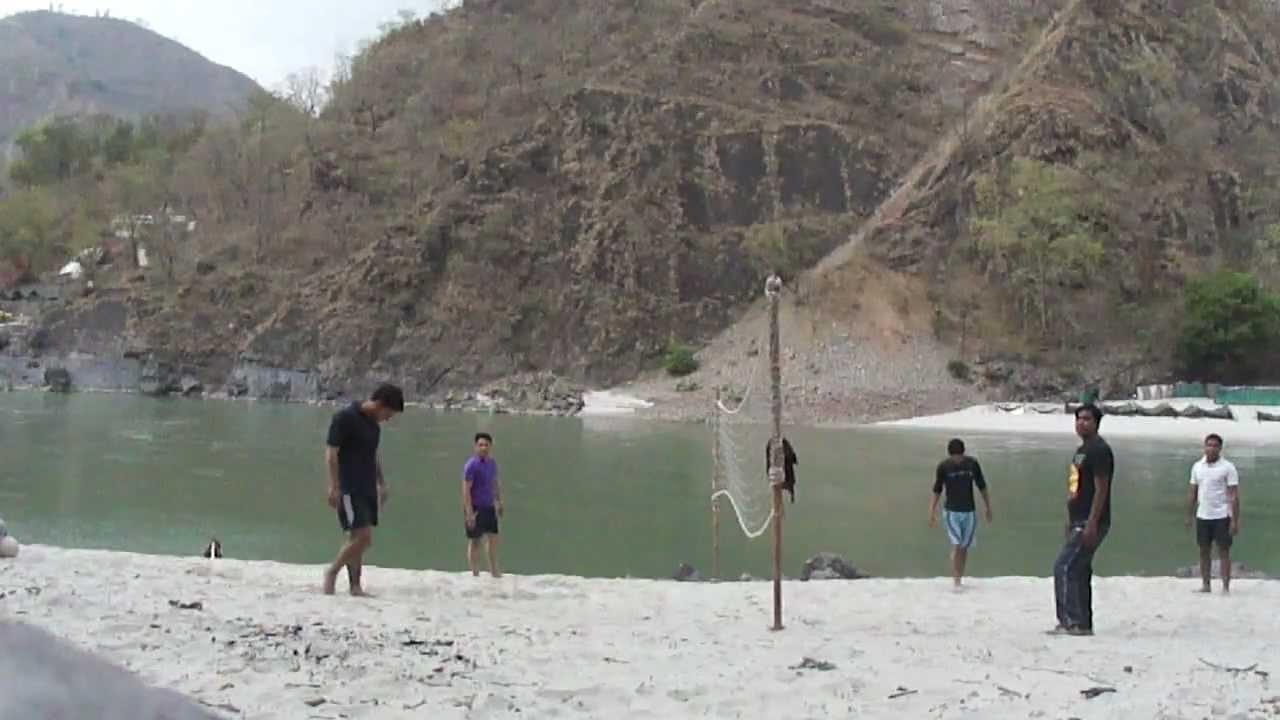 Volley Ball On Ganga Beach In Byasi Near Rishikesh