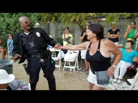 LAPD officer shows off salsa moves at Cuban American Music Festival 2017
