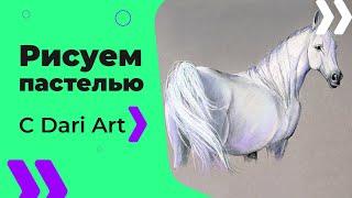 Как нарисовать белую лошадь СУХОЙ пастелью! #Dari_Art(ПОДРОБНЫЙ СПИСОК МАТЕРИАЛОВ ТУТ СПАСИБО ЗА ИДЕЮ К ВИДЕО! Диана Билык Спасибо Вам за замечатель..., 2016-01-22T07:17:25.000Z)