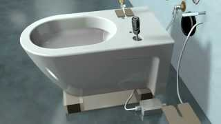 SensoWash ® C: How to Install Duravit Hanging Type Commode By Modern Tiles Faisalabad.flv