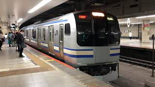 E217系クラY-34編成+クラY-113編成東京発車