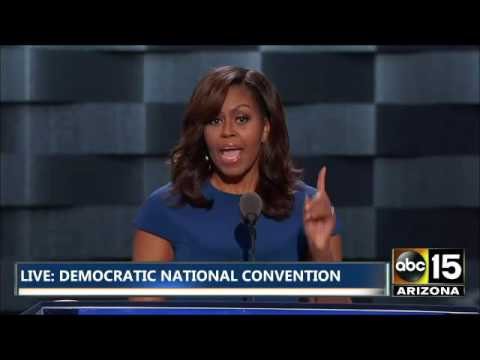 FULL: Emotional Michelle Obama Speech - Cries over Daughters - Democratic National Convention