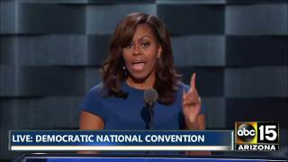 FULL: Emotional Michelle Obama Speech - Cries over Daughters - Democratic National Convention by : ABC15 Arizona