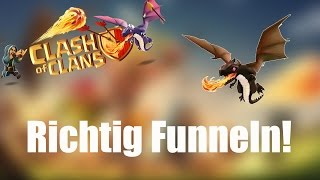 RICHTIG FUNNELN: Mit Drachen zum Erfolg ✭ Clash of Clans [deutsch / german]