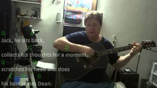 Jack and Diane - John Cougar Mellencamp - Guitar Chord Practice - Key = G Major