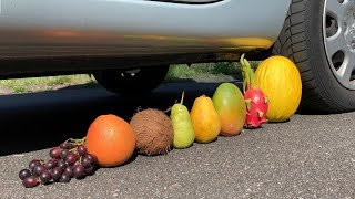 Crushing Crunchy & Soft Things by Car! - EXPERIMENT: FRUITS VS CAR 2