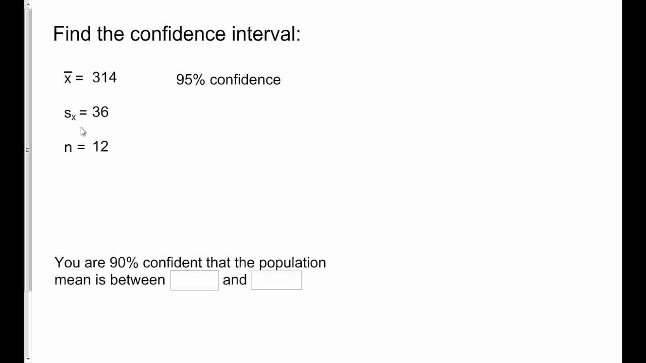 3 5 Confidence Intervals on the TI-83 and TI-84