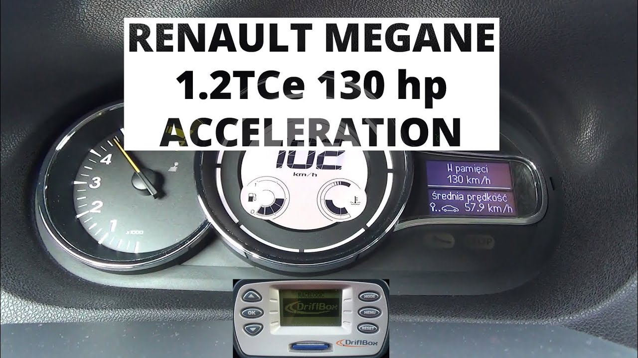 renault megane 1 2 tce 130 hp acceleration 0 100 km h youtube. Black Bedroom Furniture Sets. Home Design Ideas