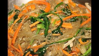 잡채 만드는 법 불지않는 황금레시피 korean food (glass noodle with stir fried vegetables )