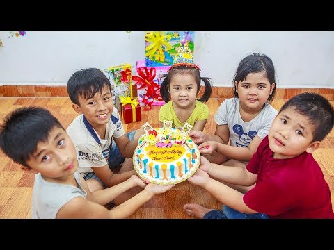 Kids Go To School | Day Birthday Of Chuns Children Make a Birthday Cake Cute