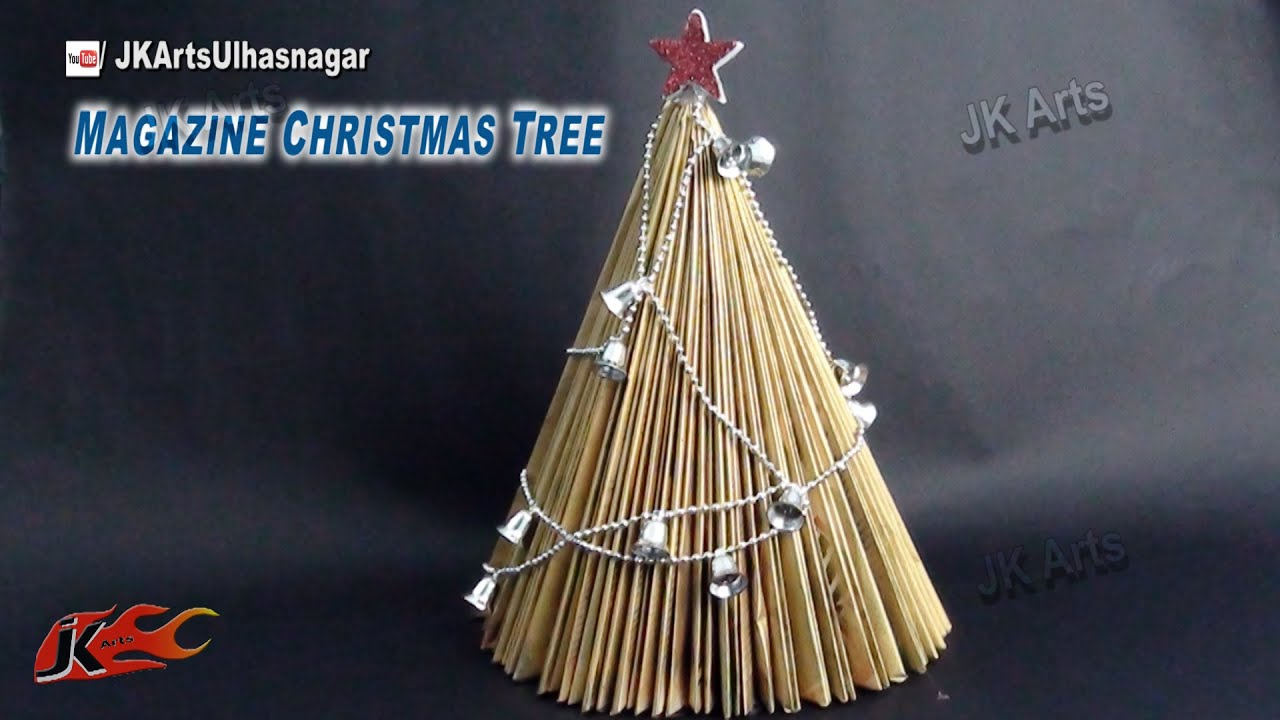 How To Make Paper Christmas Tree From Waste Magazine