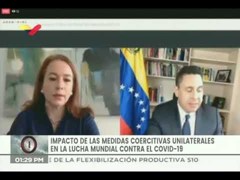 Samuel Moncada en seminario en línea de la ONU sobre sanciones en tiempos del Covid-19
