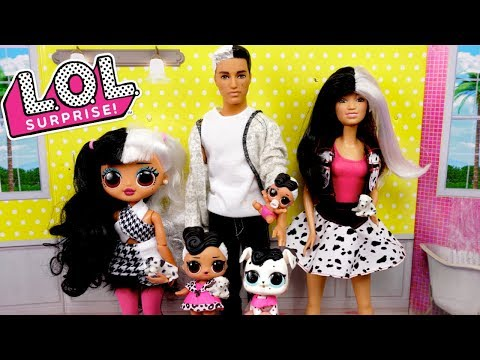 LOL Doll Family Evening Routine with New Barbie Dollhouse & Toys
