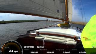 Sailing on the Norfolk Broads April 2016 Acle to Salhouse