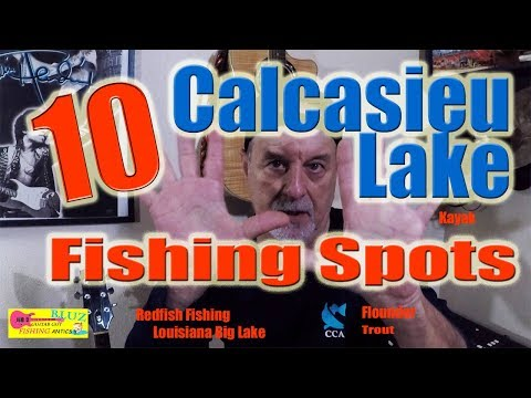 10 Calcasieu Lake Fishing Spots -Catch Redfish, Flounder, Speckled Trout On Big Lake Louisiana