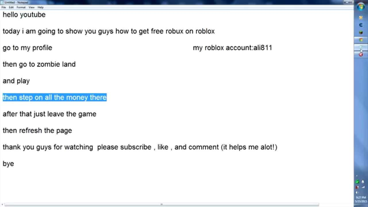 how to get free robux on roblox (2015 may) - YouTube