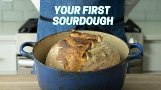 YOUR FIRST SOURDOUGH (Sourdough Bręad For Complete Beginners)