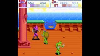 TMNT IV: Turtles In Time Прохождение (SNES)
