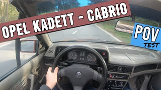 Opel kadett cabrio (1989)   POV test drive   1.6 petrol   #06