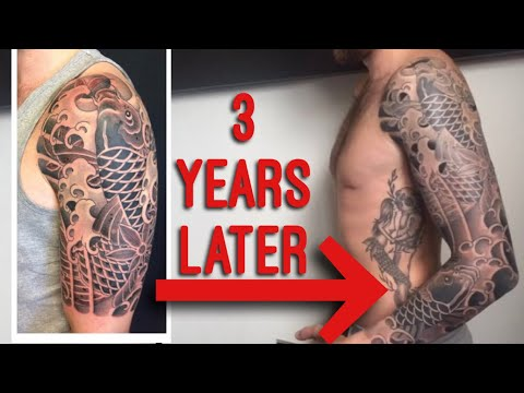 Amazing Japanese Koi Sleeve Tattoo by Luca Ortis - Half to Full extended