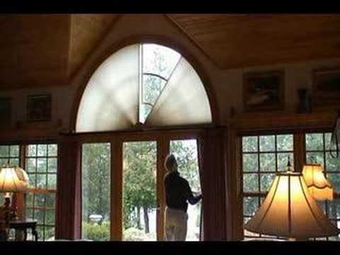 moveable arched window treatment youtube. Black Bedroom Furniture Sets. Home Design Ideas