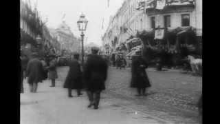Москва. Тверская улица в конце 19 века. 1896 год / Moscow. Tverskaya Street 19th century.
