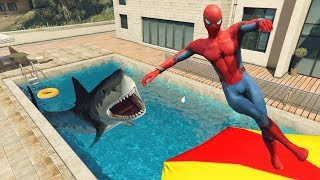 GTA 5 Spiderman Water Fails | ragdolls vol.2 (Euphoria physics)