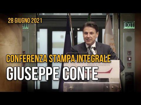 Giuseppe Conte, la conferenza stampa integrale