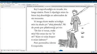 Esperanto with a  Little prince/ Chapter 3