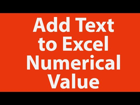 Add text to Excel numerical value