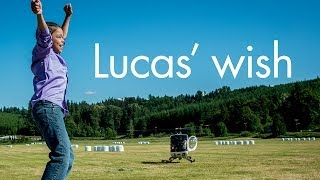 Lucas' wish to have a party at Camp Korey!