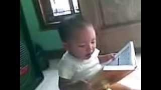 Vidio Kebesaran Allah Anak  2 Tahun Bisa Baca Al-Quran 2014